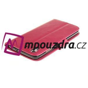 Dandelion PU kožené puzdro na Huawei Y6 II a Honor 5A - rose - 5