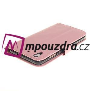 Dandelion PU kožené puzdro na Huawei Y6 II a Honor 5A - růžové - 5