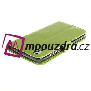 Dandelion PU kožené puzdro na Huawei Y6 II a Honor 5A - zelené - 5