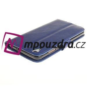 Dandelion PU kožené puzdro pre Huawei Y6 II a Honor 5A - modré - 5