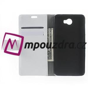 Horses PU kožené puzdro na Huawei Y6 II Compact - biele - 5