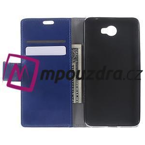 Horses PU kožené pouzdro na Huawei Y6 II Compact - modré - 5