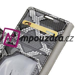 Peněženkové pouzdro s hadím motivem na Huawei Y6 II Compact - silver - 5