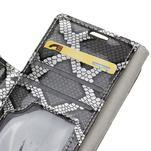 Peněženkové pouzdro s hadím motivem na Huawei Y6 II Compact - silver - 5/6
