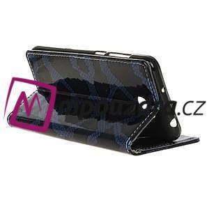 Peněženkové pouzdro s hadím motivem na Huawei Y6 II Compact - modré - 5