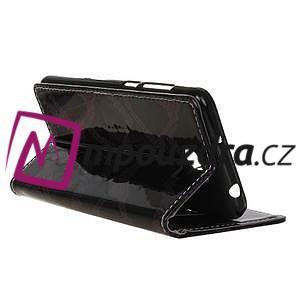 Peňaženkové puzdro s hadím motívom na Huawei Y6 II Compact - fialové - 5
