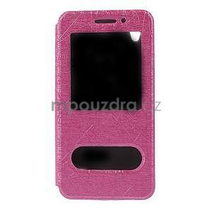 puzdro s okýnky na Huawei Ascend G620s - růžové - 5