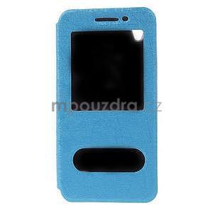 puzdro s okýnky na Huawei Ascend G620s - světle modré - 5
