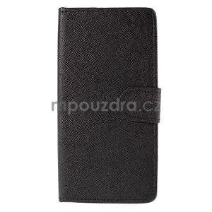 Peňaženkové puzdro na Huawei Ascend G620s - čierné - 5