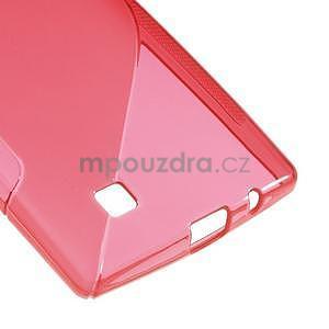 Červený gélový obal S-line na LG G4c H525n - 5