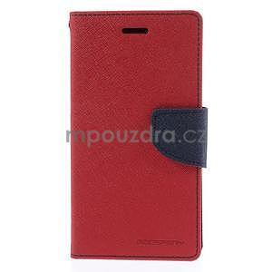 Kožené peňaženkové puzdro na Nokia Lumia 830 - červené - 5
