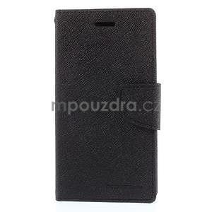 Kožené peňaženkové puzdro na Nokia Lumia 830 - čierné - 5