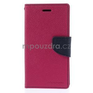 Kožené peňaženkové puzdro na Nokia Lumia 830 - rose - 5