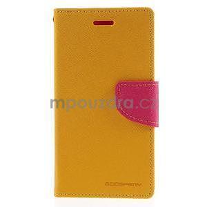 Kožené peňaženkové puzdro na Nokia Lumia 830 - žlté - 5