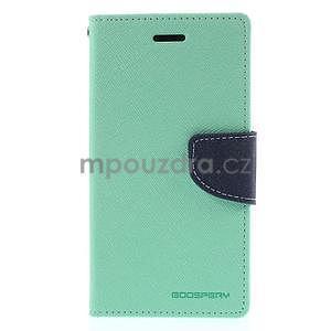 Kožené peňaženkové puzdro na Nokia Lumia 830 - azurové - 5