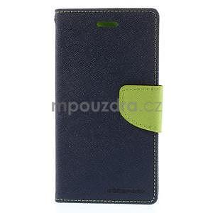 Kožené peňaženkové puzdro na Nokia Lumia 830 - tmavě modré - 5