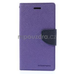 Kožené peňaženkové puzdro na Nokia Lumia 830 - fialové - 5