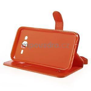 Peňaženkové puzdro s kočičkou Domi pre Samsung Galaxy J5 - oranžové - 5