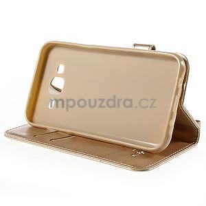 Peňaženkové puzdro s kočičkou Domi pre Samsung Galaxy J5 - champagne - 5