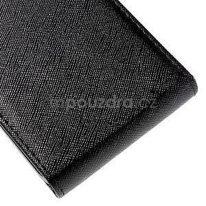 Flipové pouzdro na Samsung Galaxy J5 - černé - 5