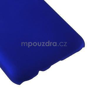 Tmavě modrý pogumovaný plastový kryt na Samsung Galaxy J5 - 5