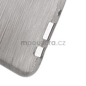 Broušený gelový obal na Samsung Galaxy J5 - šedý - 5