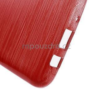 Brúsený gélový obal pre Samsung Galaxy J5 - červený - 5