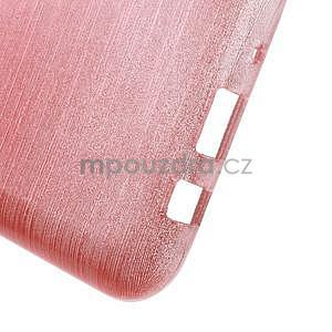 Brúsený gélový obal pre Samsung Galaxy J5 - ružový - 5