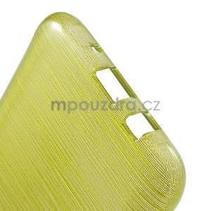 Brúsený gélový obal pre Samsung Galaxy J5 - zelenožltý - 5