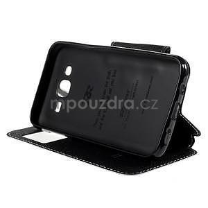 PU kožené puzdro s okienkom pro Samsung Galaxy J5 - biele - 5