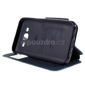 PU kožené puzdro s okienkom pro Samsung Galaxy J5 - svetlo modré - 5