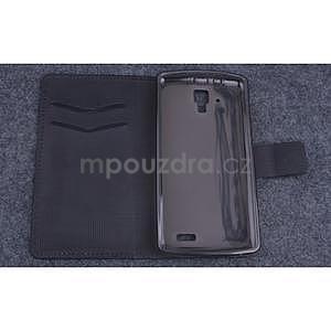 Koženkové puzdro pre mobil Lenovo A536 - čierne - 5