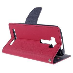 Diary štýlové puzdro pre Asus Zenfone 2 Laser - rose - 5