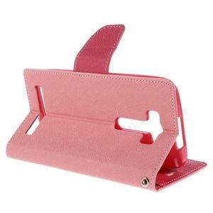 Diary štýlové puzdro na Asus Zenfone 2 Laser - ružové - 5