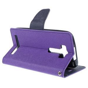Diary štýlové puzdro na Asus Zenfone 2 Laser - fialové - 5