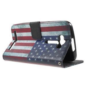 Koženkové puzdro na Asus Zenfone 2 Laser - US vlajka - 5