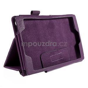 Koženkové puzdro na tablet Asus ZenPad 7.0 Z370CG - fialové - 5