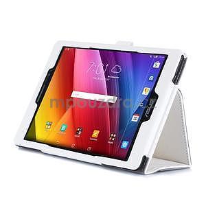 Polohovatelné koženkové puzdro na tablet Asus ZenPad S 8.0 - biele - 5