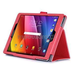 Polohovatelné koženkové puzdro pre tablet Asus ZenPad S 8.0 -  červené - 5