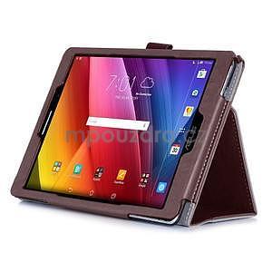 Polohovatelné koženkové puzdro pre tablet Asus ZenPad S 8.0 -  hnedé - 5