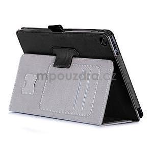 Polohovatelné koženkové puzdro na tablet Asus ZenPad S 8.0 -  čierne - 5