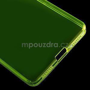 Transparentný gélový obal na telefón Honor 7 - žltý - 5