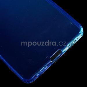 Transparentný gélový obal na telefón Honor 7 - modrý - 5