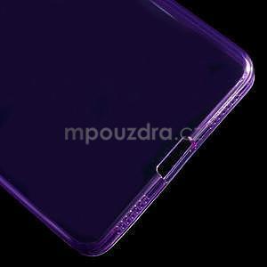 Transparentný gélový obal na telefón Honor 7 - fialový - 5