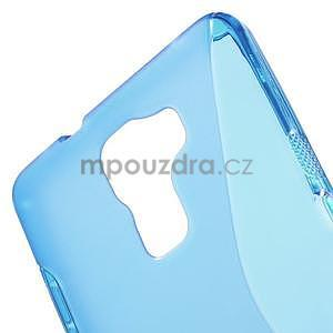 Modrý gélový kryt S-line na Huawei Honor 7 - 5