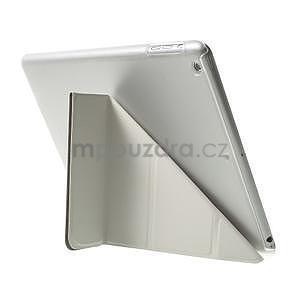 Origami ochranné puzdro pre Apple iPad Air - biele - 5