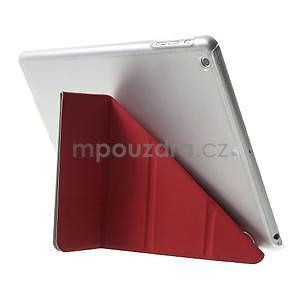 Origami ochranné puzdro pre Apple iPad Air - červené - 5