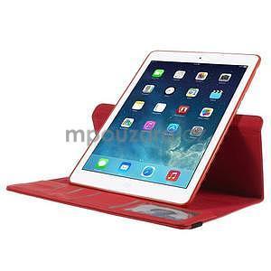 Circ otočné puzdro na Apple iPad Air - červené - 5
