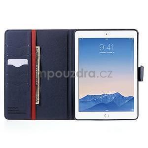 Diary peňaženkové puzdro na iPad Air - červené - 5