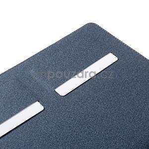 Elegant polohovateľné puzdro na iPad Air 2 - tmavomodré - 5